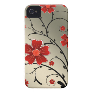 Blumenelfenbeinrot iPhone 4 Cover