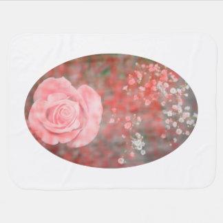 Blumenentwurf des Babys der Rose n blotched Atem Puckdecke