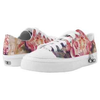 Blumenentwurfsschuhe Niedrig-geschnittene Sneaker