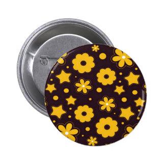 Blumenfahnen-Hauptentwurf Runder Button 5,7 Cm