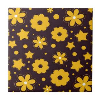 Blumenfahnen-Hauptentwurf Kleine Quadratische Fliese