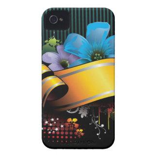 Blumenfahnen-Hauptentwurf iPhone 4 Cover