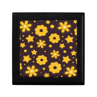 Blumenfahnen-Hauptentwurf Kleine Quadratische Schatulle