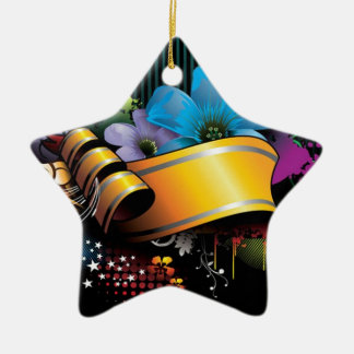 Blumenfahnen-Hauptentwurf Keramik Stern-Ornament