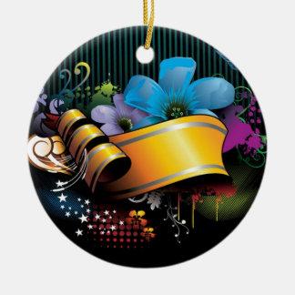 Blumenfahnen-Hauptentwurf Rundes Keramik Ornament