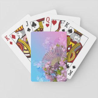 Blumenfan-Spielkarten Spielkarten