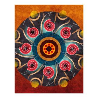 Blumenfarbabstrakter vektorkunst-Flyer 21,6 X 27,9 Cm Flyer