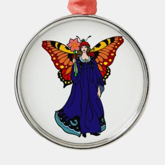 Blumenfee flower fairy silbernes ornament