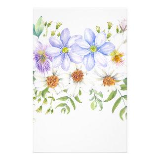Blumenfeld-Blumenstrauß Briefpapier