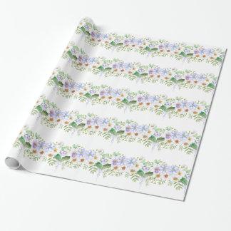 Blumenfeld-Blumenstrauß Geschenkpapier