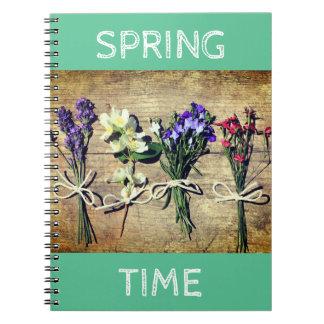 BlumenFoto-Notizbuch mit schönen Blumen Notizblock