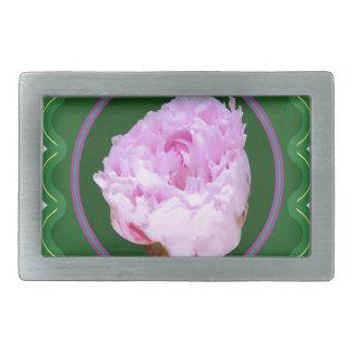 BlumenFotographik der rosa Rosen-Blume auf 100 Rechteckige Gürtelschnalle