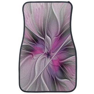BlumenFraktal-modernes abstraktes Blumen-Rosa-Grau Automatte