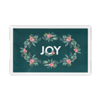 Blumenfreude-Feiertags-Behälter Acryl Tablett