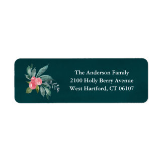 Blumenfreude-Rücksendeadressen-Aufkleber Rücksende Aufkleber