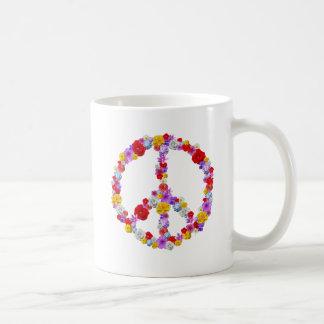Blumenfriedenszeichen Kaffeetasse