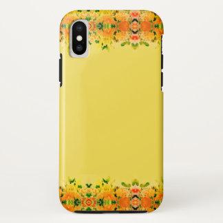 Blumenfrühlings-gelbes Goldmode iPhone Kasten iPhone X Hülle