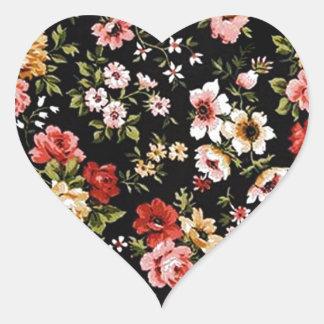 Blumengänseblümchen der Rockabilly Retro Herz Sticker