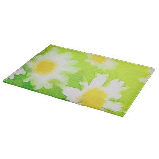Blumengänseblümchen-Glasschneiden-Brett Schneidebrett