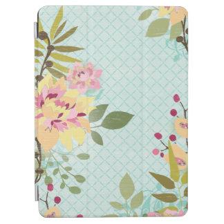 Blumengarten, blauer Hintergrund iPad Air Hülle