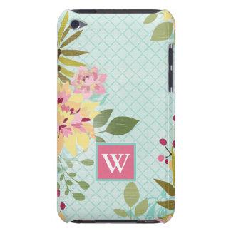 Blumengarten, blauer Hintergrund iPod Case-Mate Hülle
