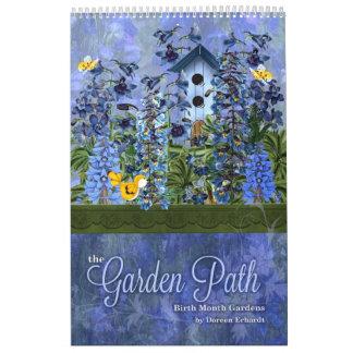 Blumengärten des Geburts-Blumen-Gewohnheits-Jahres Abreißkalender