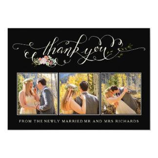 Blumengarten-Hochzeit danken Ihnen Foto-Karten 12,7 X 17,8 Cm Einladungskarte