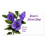 Blumengeschäft: Stiefmütterchen: Visitenkarten