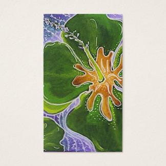 Blumengeschäftskarte des niedlichen bunten visitenkarte
