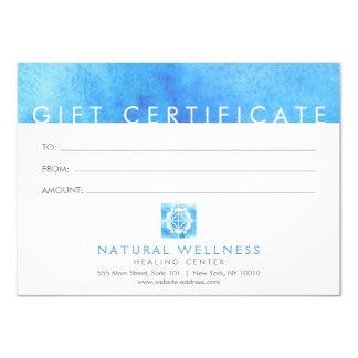 Blumengitterwellness-Logo-Blau-Geschenkgutschein Karte