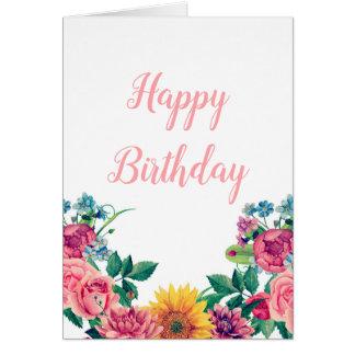 Blumengrußkarte. Alles Gute zum Geburtstag der Karte