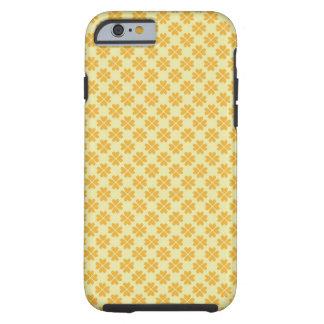 Blumenherzmuster des Retro Butterblumegelbklees Tough iPhone 6 Hülle