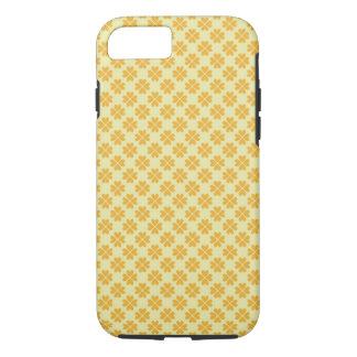 Blumenherzmuster des Retro Butterblumegelbklees iPhone 8/7 Hülle