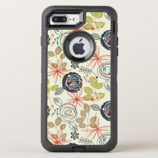 Blumenhintergrund 3 OtterBox defender iPhone 8 plus/7 plus hülle