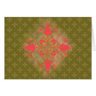 Blumenhintergrund der olivgrünen grußkarte