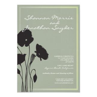 Blumenhochzeits-Einladung Karte