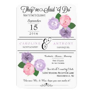 Blumenhochzeits-Empfangs-nur Einladung