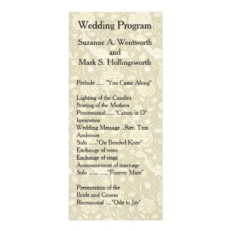 Blumenhochzeits-Programme, Gewebe, Vintag, Garten Werbekarte