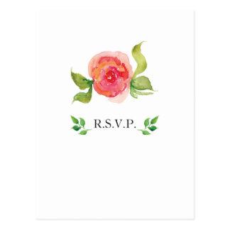 Blumenhochzeits-uAwg des korallenroten rosa Postkarte