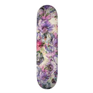 Blumenillustration des Vintagen böhmischen rosa 20,1 Cm Skateboard Deck