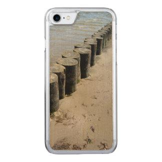 BlumeniPhone 6 dünnes Ahorn-Holz Carved iPhone 7 Hülle