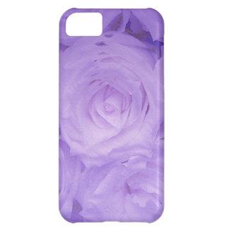 BlumeniPhone Gewohnheit-Fallkamerad lila Rosen iPhone 5C Hülle