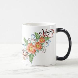 Blumenkaffee Tasse für Frauen