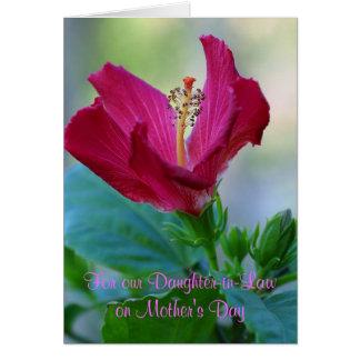 Blumenkarte der schwiegertochter-Mutter Tages Karte
