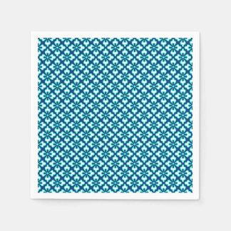BlumenKimonodruck, -Türkis und -indigo Papierserviette