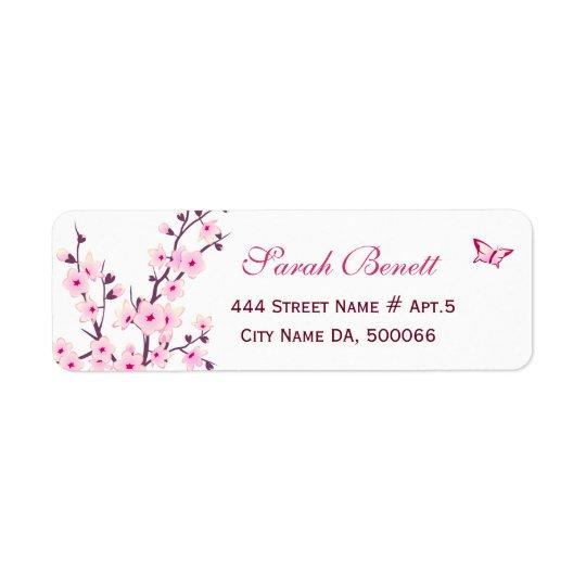 Blumenkirschblüten-Babyparty Kleiner Adressaufkleber