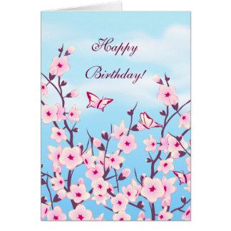 Blumenkirschblüten-Geburtstag Grußkarte