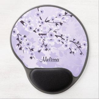 Blumenkirschblüten lila gel mousepad