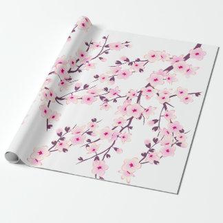 Blumenkirschblüten-Packpapier Geschenkpapier