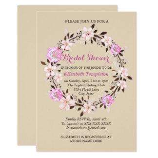 Blumenkirschblüten-und -klee-Brautparty Karte
